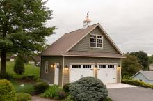 24' x 24' Concord Garage with vinyl siding and Architectural shingle roofing