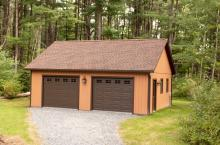24' x 28' Vintage Garage with Duratemp siding