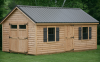 cape cod barn 12' x 20' with log siding
