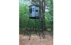 6' x 6' 360 Pro Hunting Blind Shown on an adjustable metal stand